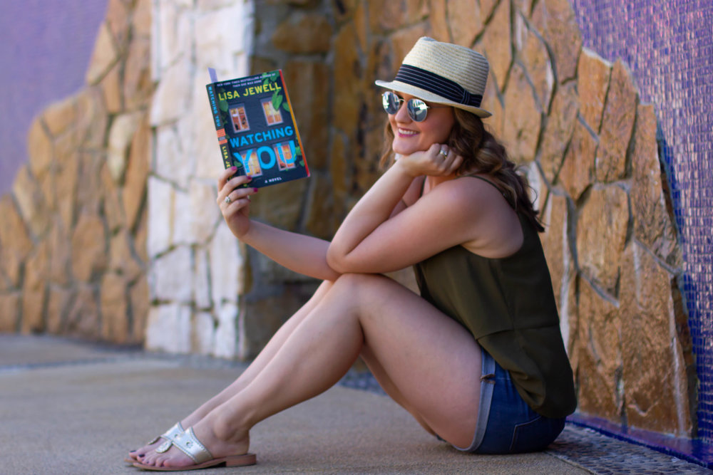 Reading Watching You by Lisa Jewell at Sirena del Mar in Cabo, Mexico
