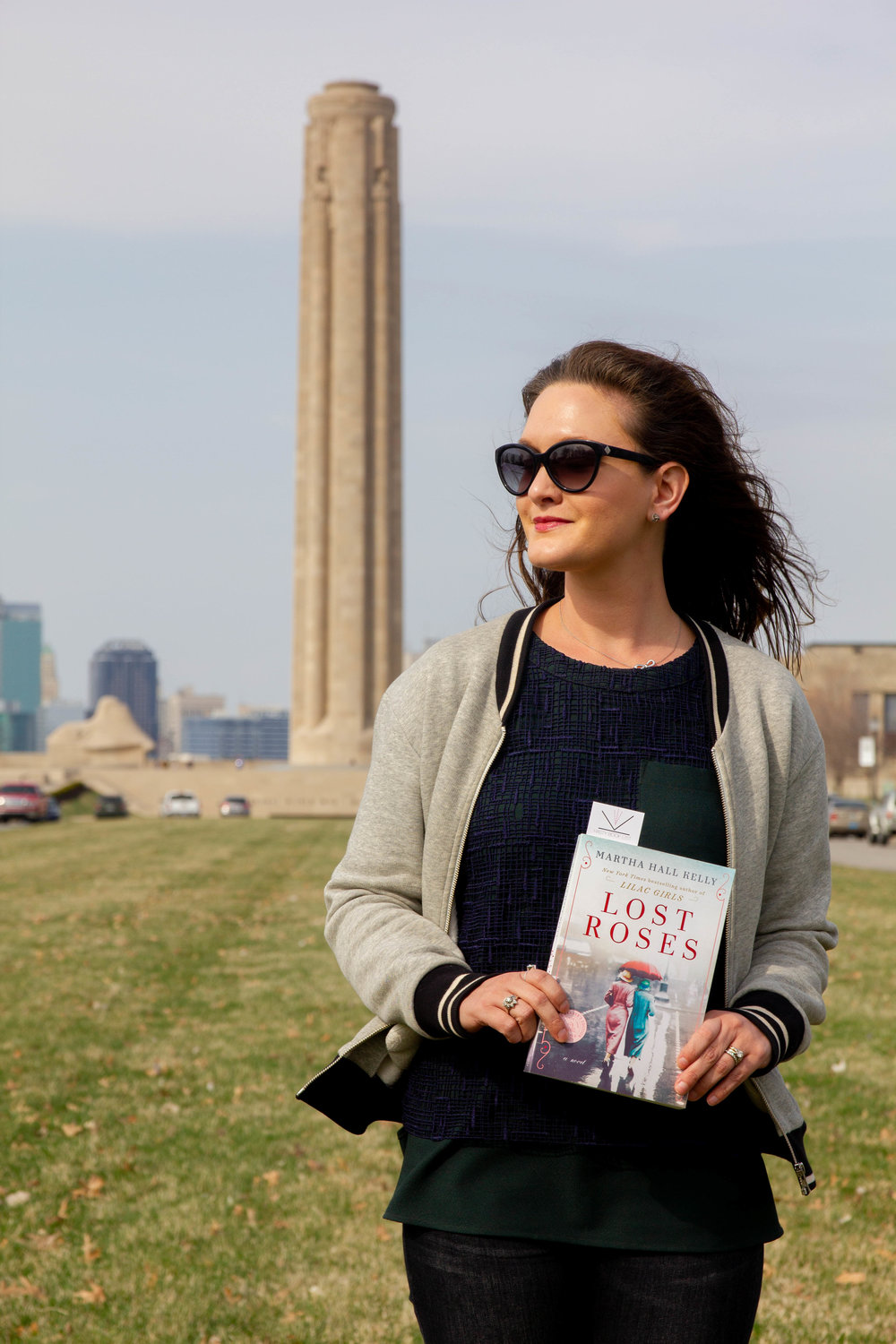 Reading Lost Roses by Martha Hall Kelly at the National WWI Museum and Memorial in Kansas City, MO
