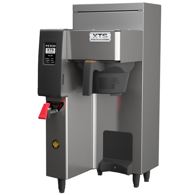 The Single Station CBS-2131XTS Touchscreen Series Airpot Coffee Brewer is a perfect hot beverage solution for high volume self-service environments such as convenience stores, cafeterias, specialty coffee shops or office coffee service