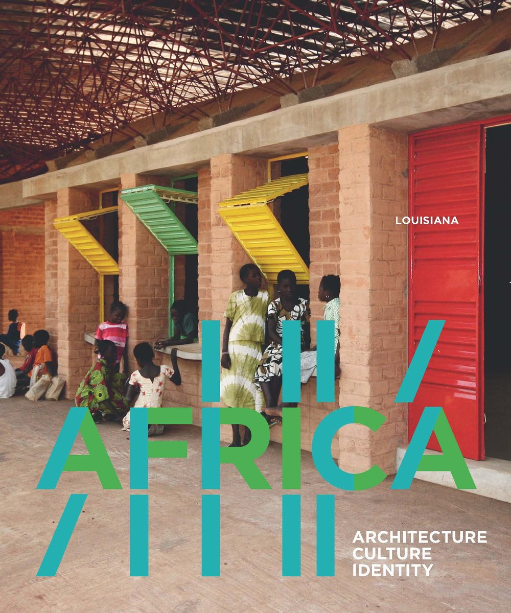 Poster from the 'Africa: Architecture, Culture and Identity' exhibition at Louisiana: Museum of Modern Art.