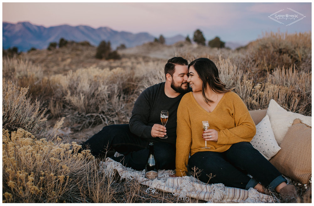 Hot Creek Mammoth Engagement Photography, Mountain Top Engagement