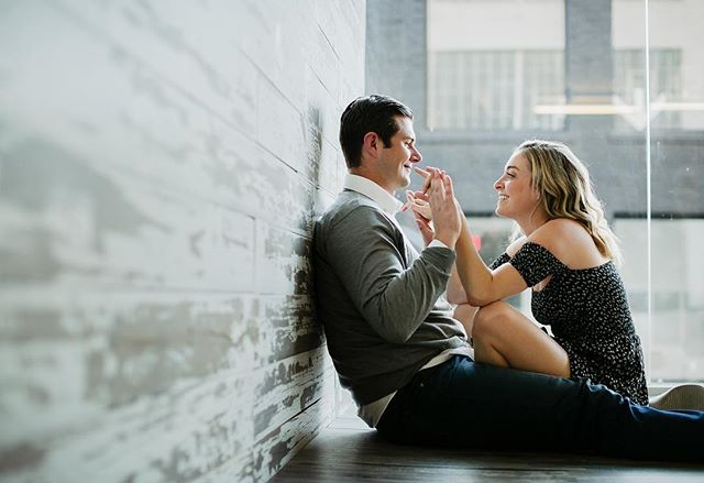 Cutest couple award goes to these two who hate posed photos! Love these playful candid shots!