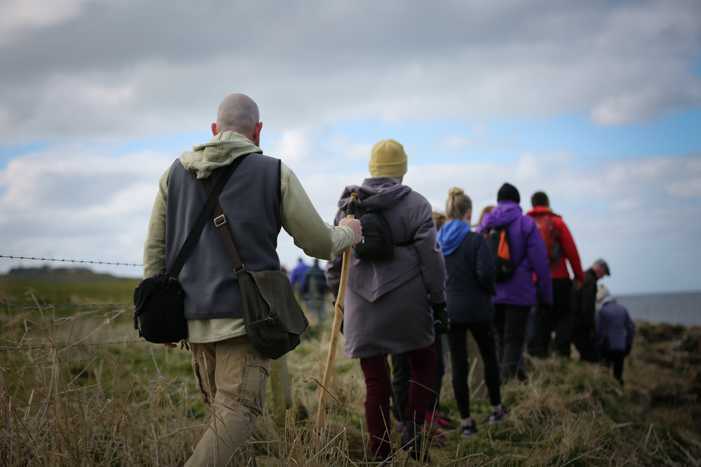 Pilgrims on the launch of the St Magnus Way