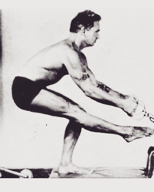Here's a vintage picture of Joseph Pilates to celebrate #internationalpilatesday! • • • • • • • #pilates #josephpilates #simplybalanced #nashville #nashvillepilates #health #fitness #balancedbody