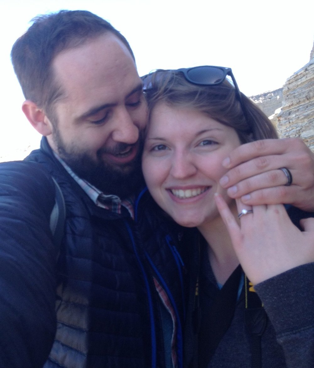 "Obligatory ""just engaged!"" selfie, of course. :)"