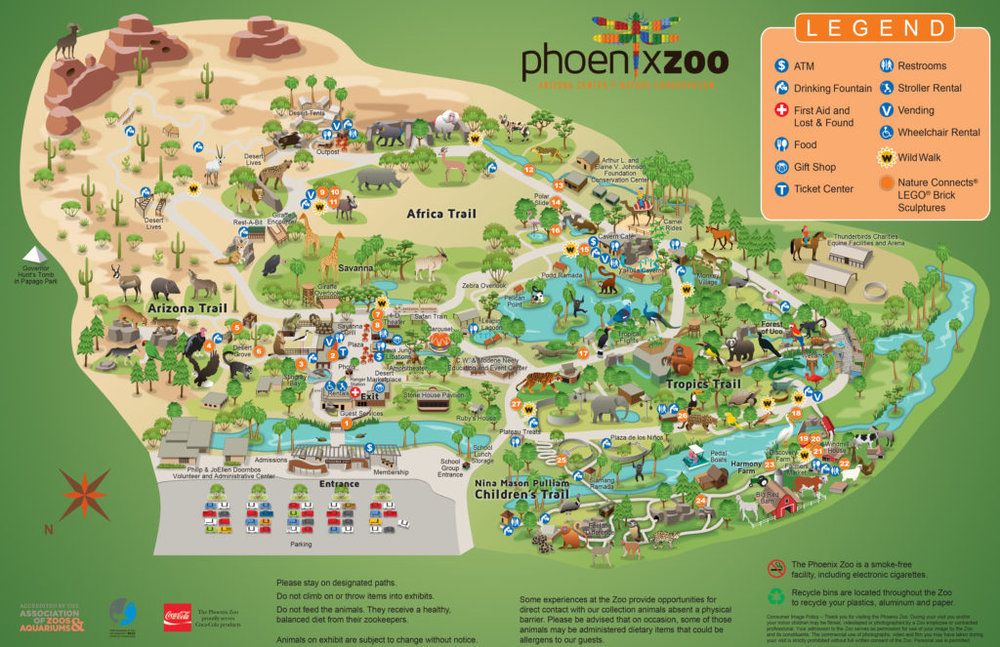 Map courtesy of the Phoenix Zoo website: www.phoenixzoo.org