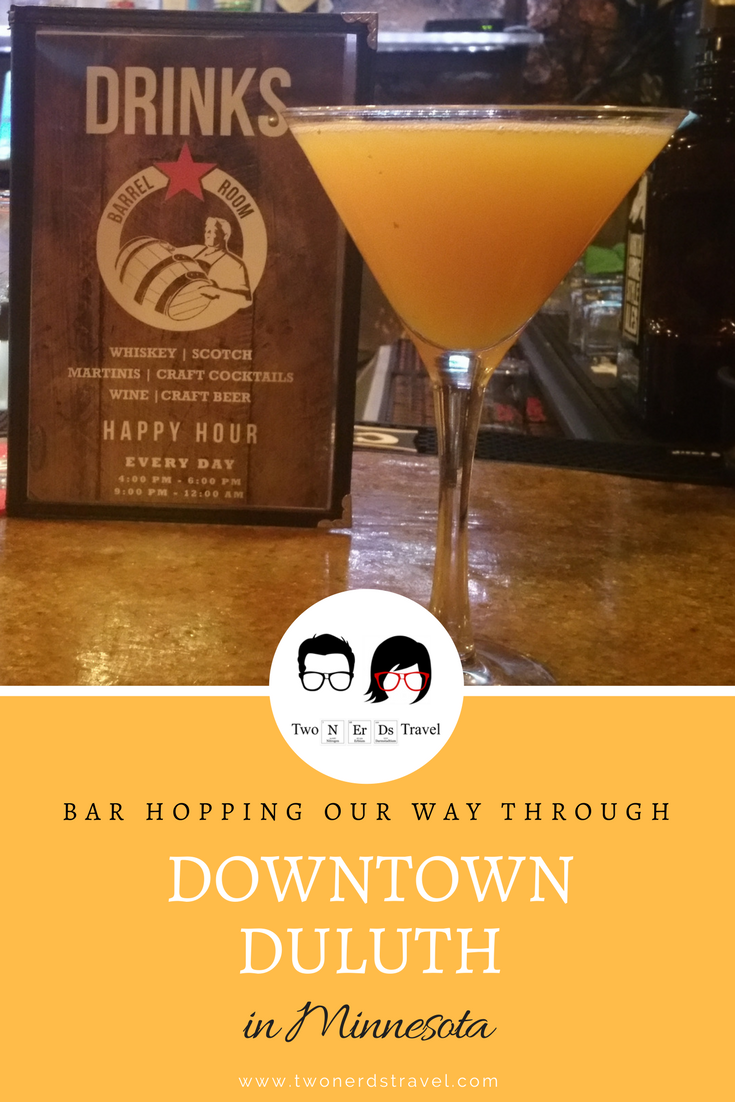 Bar Hopping Downtown Duluth Pin