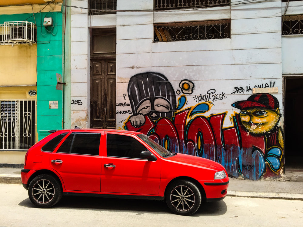 Just one of many instances of graffiti in Havana