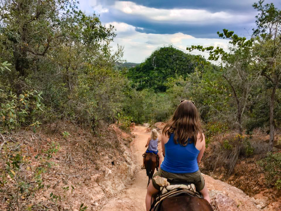 Anything is possible when you're in Viñales and not somewhere else. I'm on a horse