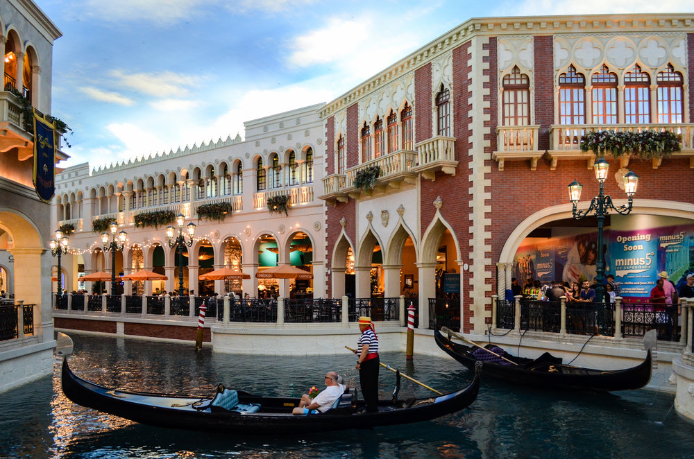 Gondola rides in the Venetian! We were so temped to do this