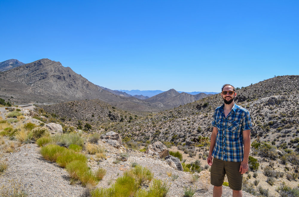 Mr. Nerd enjoying the incredible mountain landscape