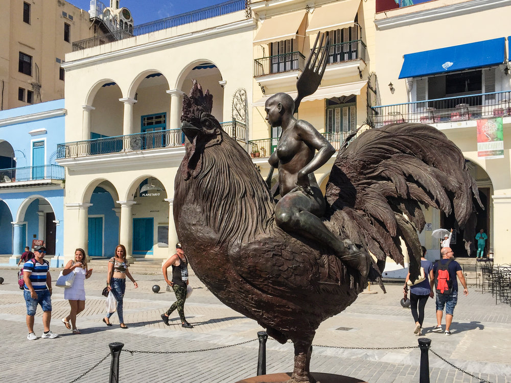 Random chicken statue we found in Havana. Your guess is as good as ours!