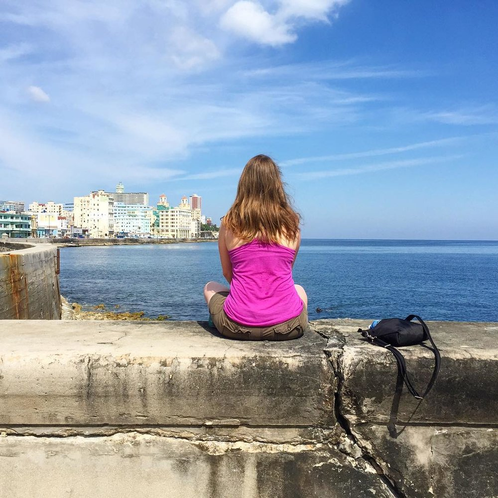 A wannabe solo traveler looking out over Havana, May 2017