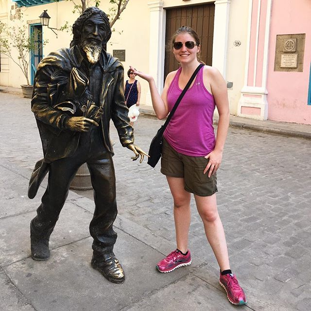 Making friends in Havana - if only he'd been able to give me directions!