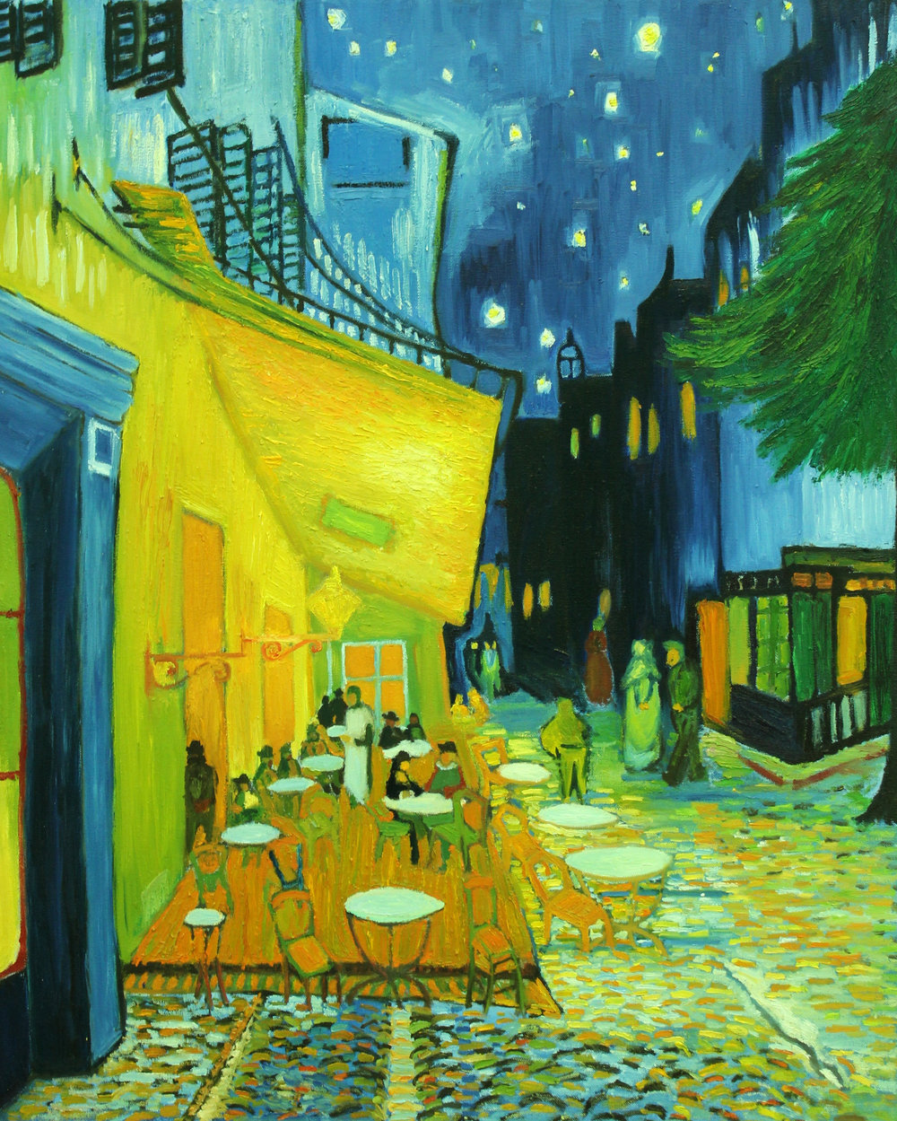 PAINTING AND FOR NON MAJORS- Syracuse University    Masters Copy- Van Gogh Café,  Terrace at Night