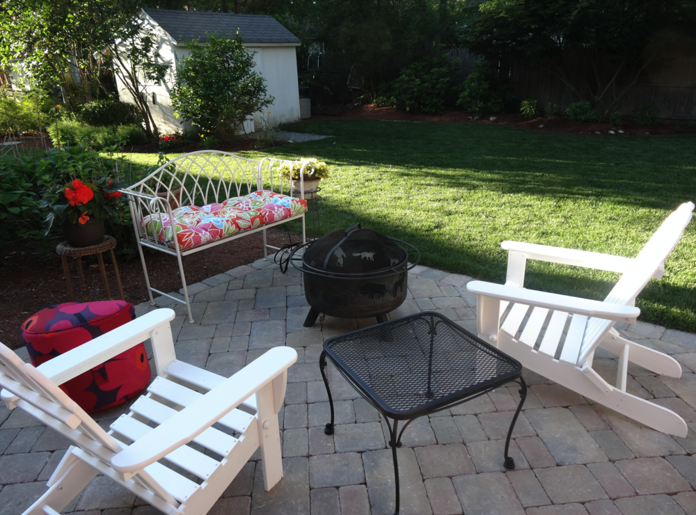 Professional patio installationin Newton, MA.