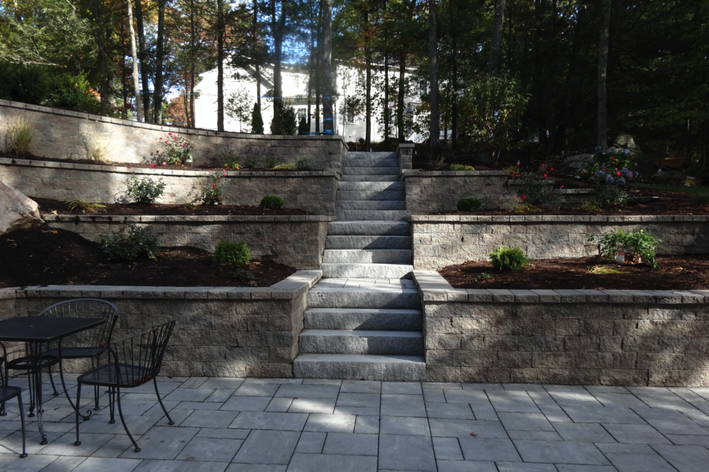 Professional retaining wall build in Newton, MA