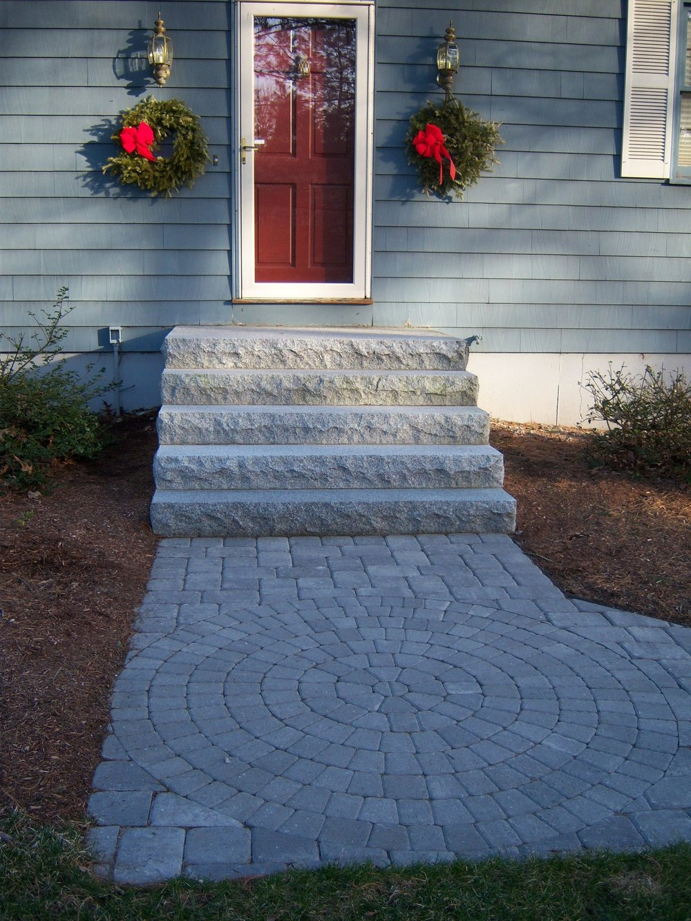 Experienced landscape design ideas for walkway in Weston MA.