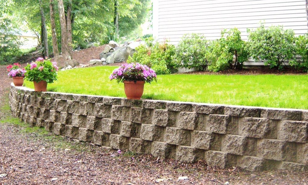 Experienced retaining wall build services in Weston, MA.