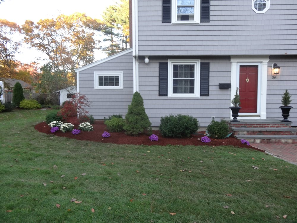 Landscape maintenance with lawn care services in Wellesley, MA.