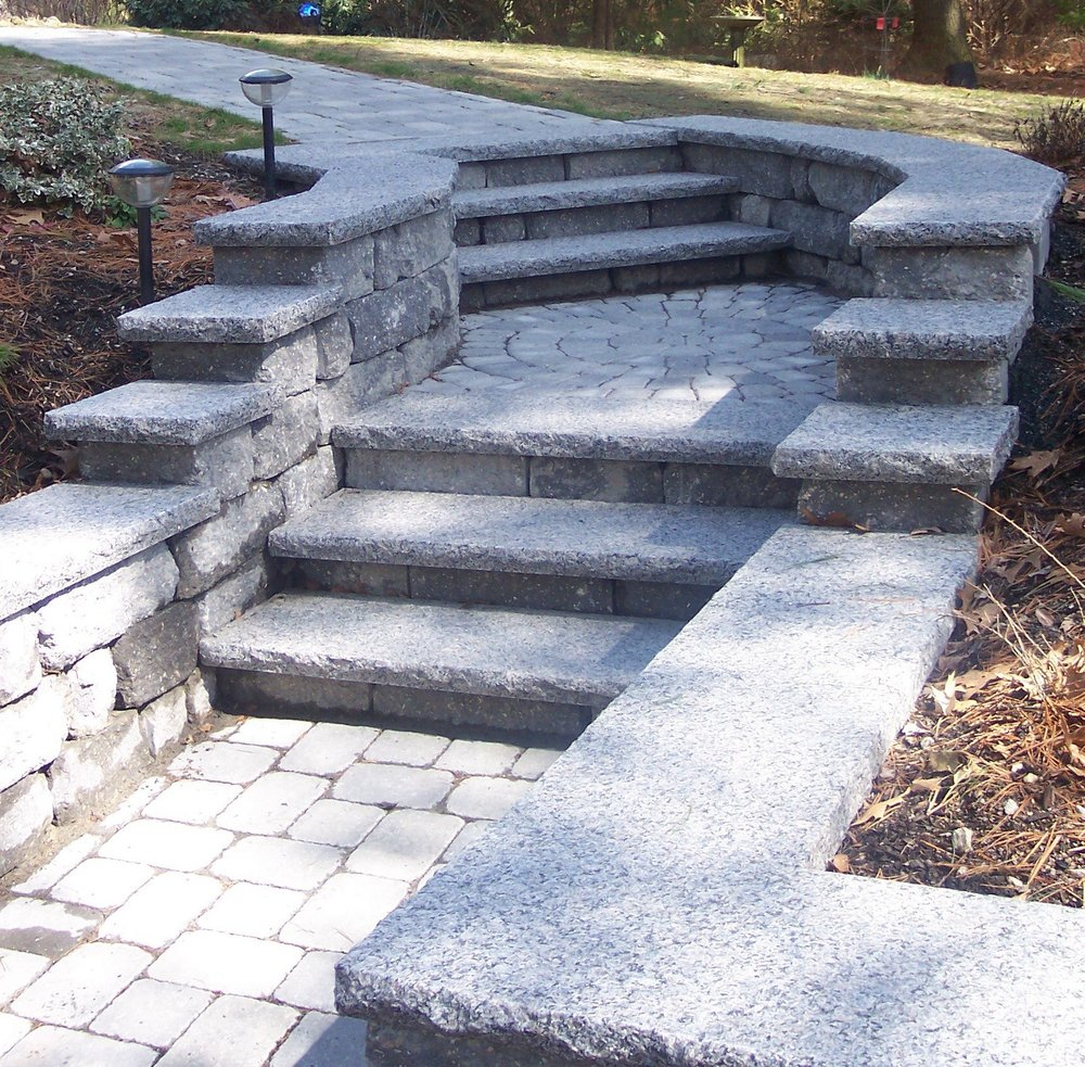 Professional retaining wall build services in Sharon, MA.