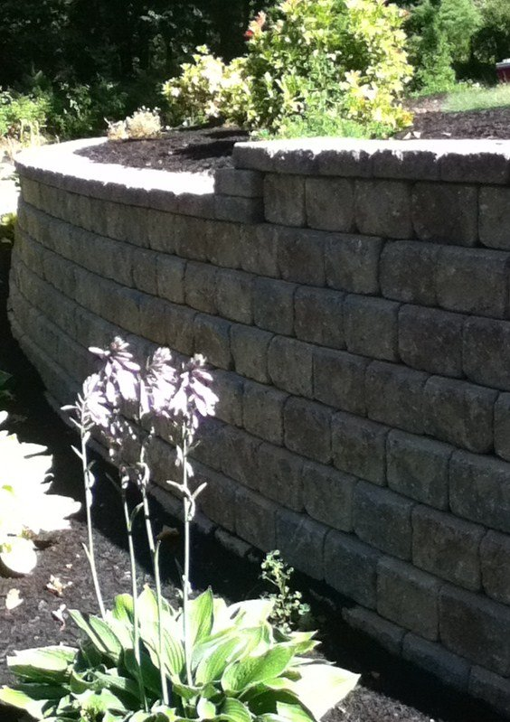Professional retaining wall design and build in Weston Massachusetts