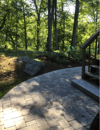 Professional walkway design and build in Norfolk, MA.