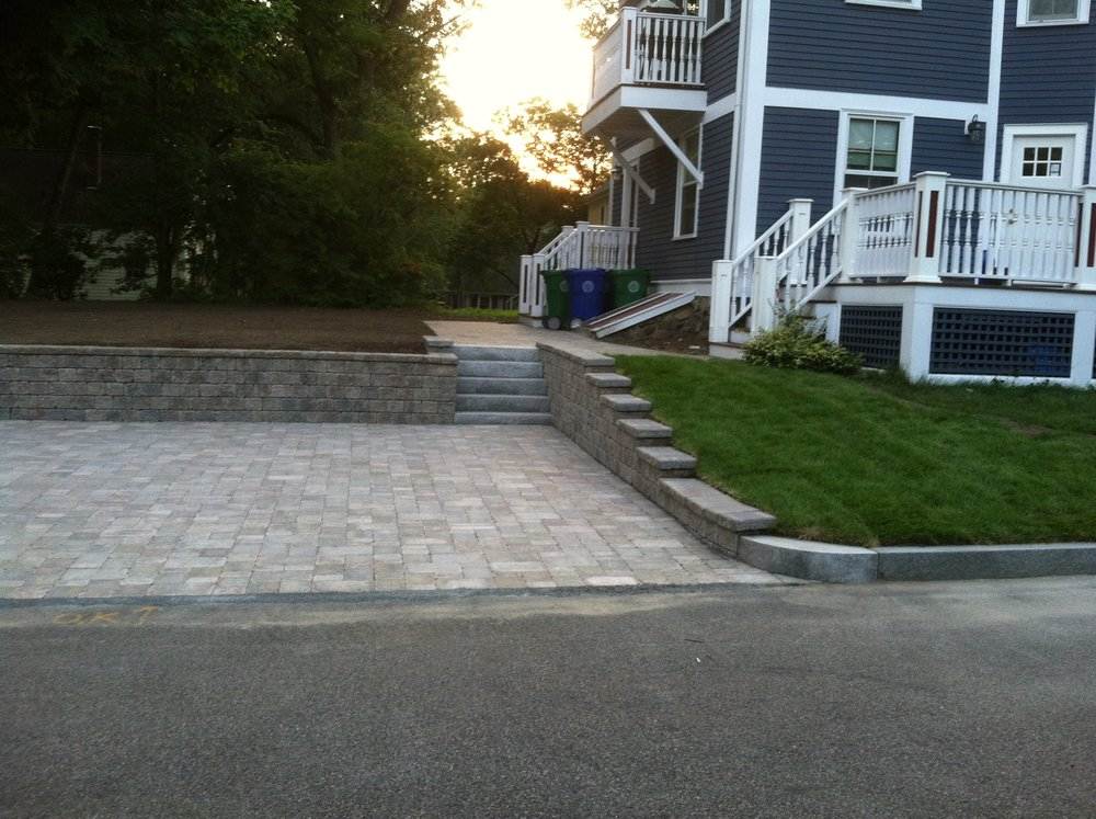 Beautiful patio installation in Norfolk Massachusetts
