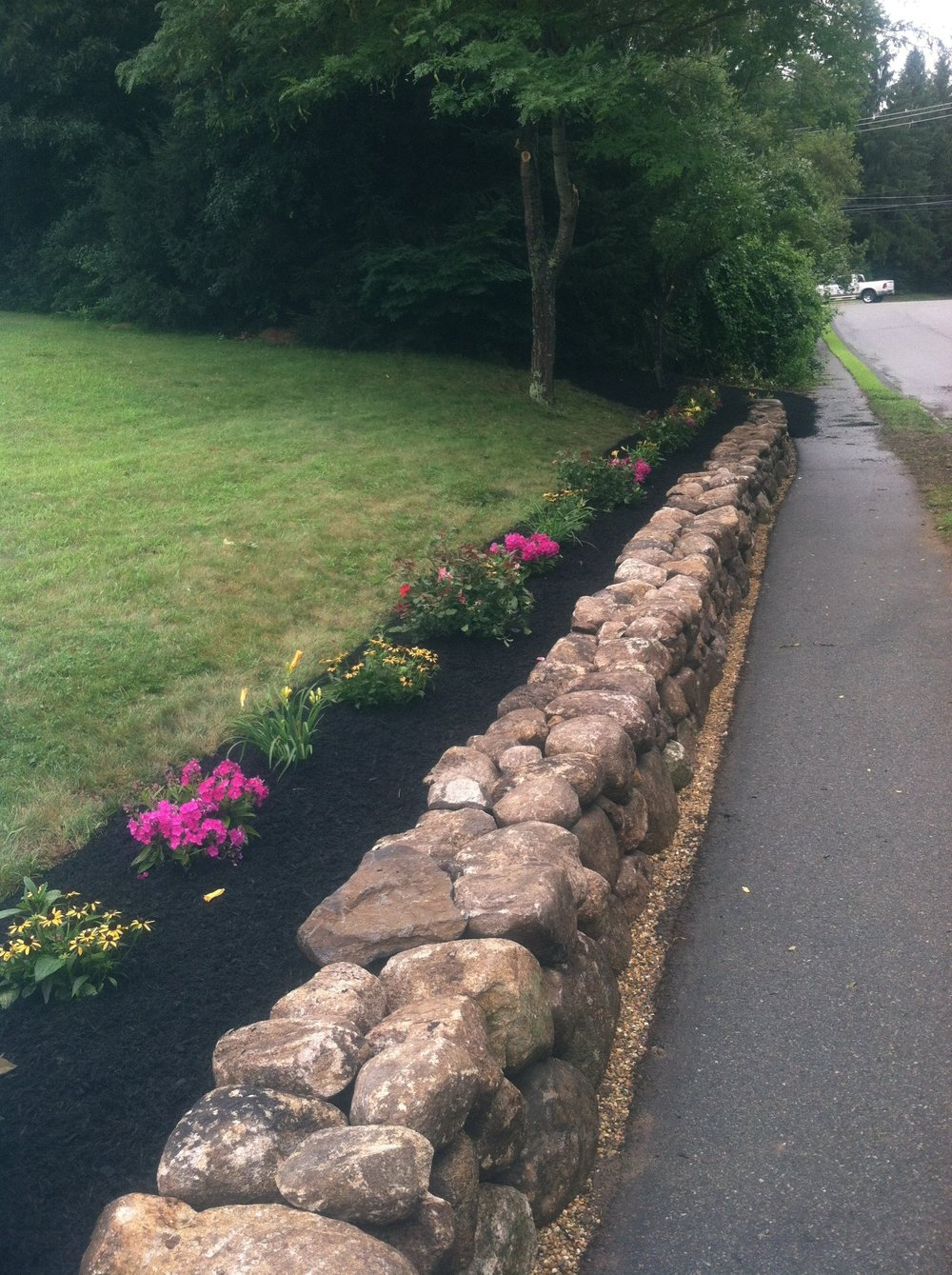 Professional retaining wall build services in Norfolk, MA.