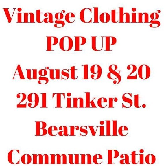 This weekend on the patio Saturday and Sunday noon to 6pm! #woodstock #outsiderart #vintageclothing #bearsville