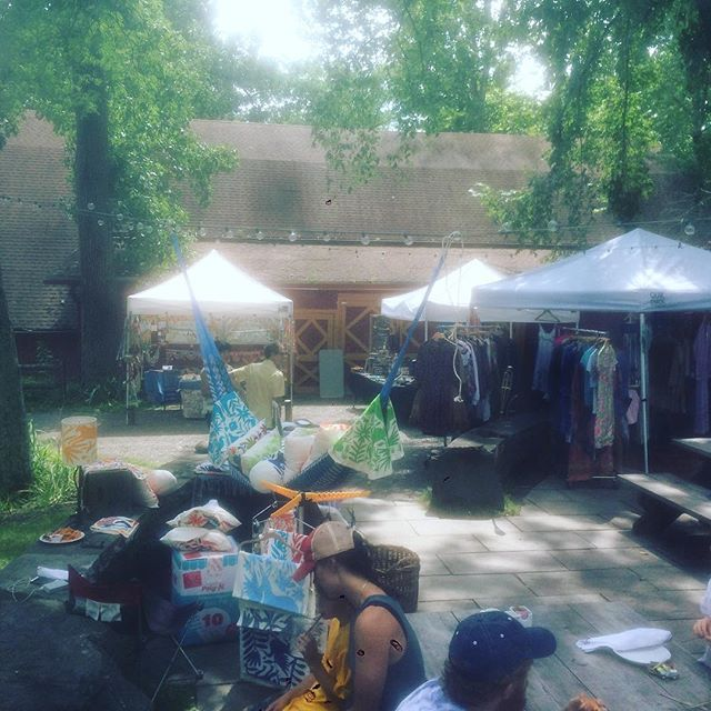 We are set up with lots of cool #vintageclothing vendors #livemusic and lots of fun Saturday and Sunday!! #outsiderart #woodstock #catskills
