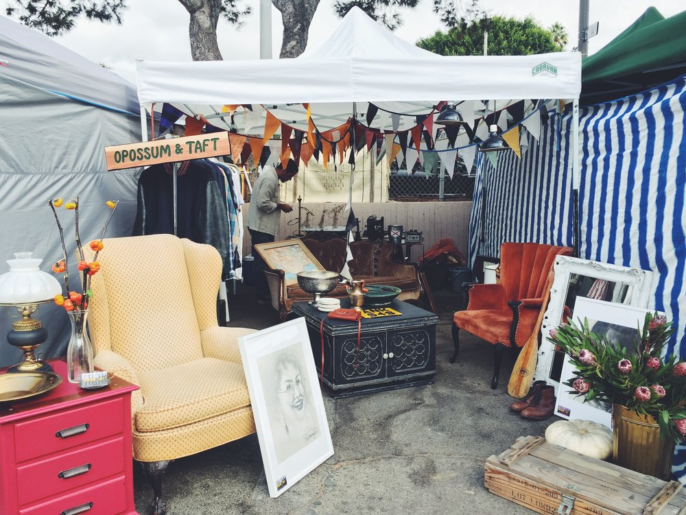 O&T's inaugural booth at the Melrose Trading Post in October 2016.