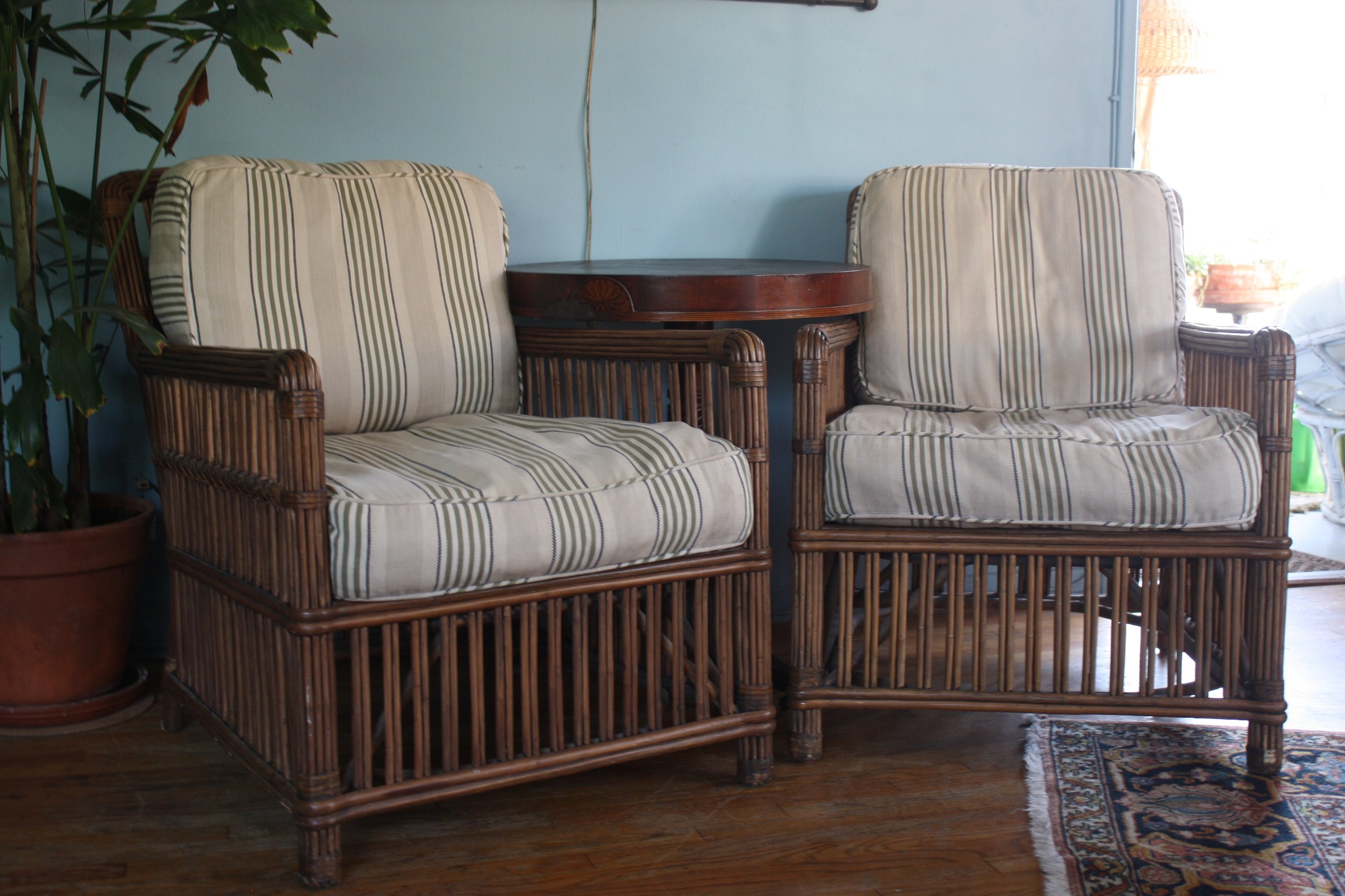 Set Of 2 Palecek President S State Chairs Opossum Taft