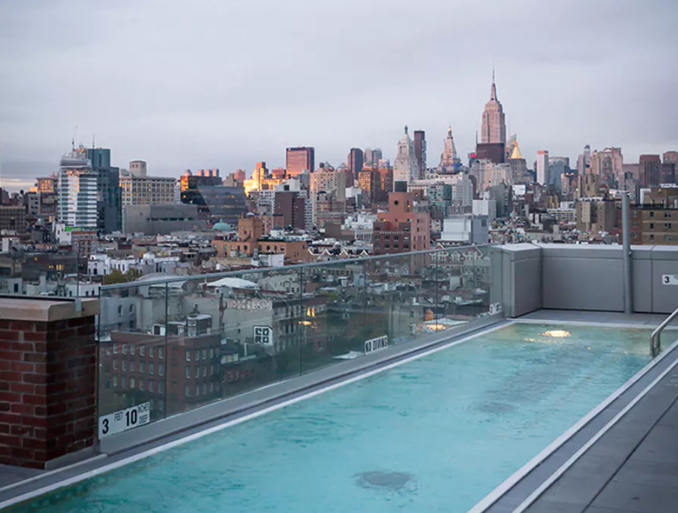 BEST FEATURE.  - The rooftop pool