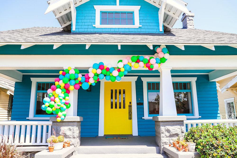 rainbow balloon house julianna strickland