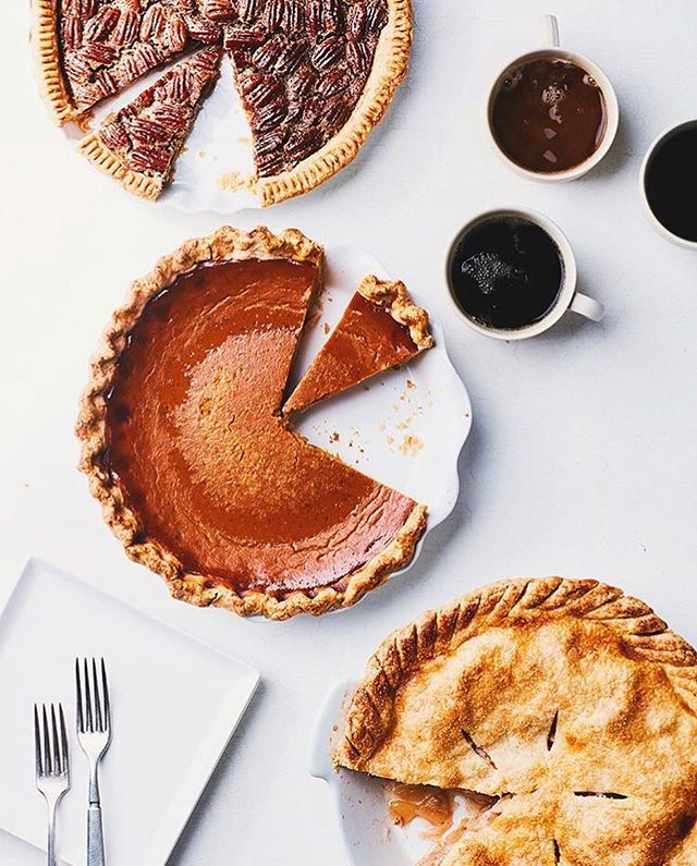I've been researching Thanksgiving recipes this morning and am realizing that I mostly just care about pie. 🥧📷: @chelsealouisekyle food styling @nardipardy prop styling @albrannian editorial by @epicurious