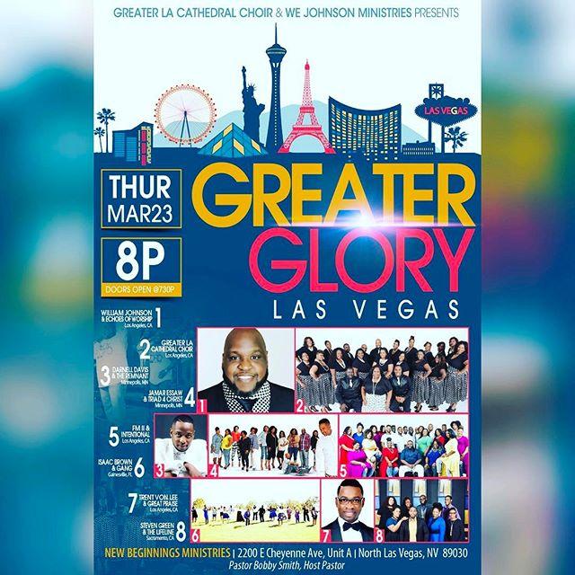 Meet us in #LasVegas March 23rd 2017 #GreaterGLORY