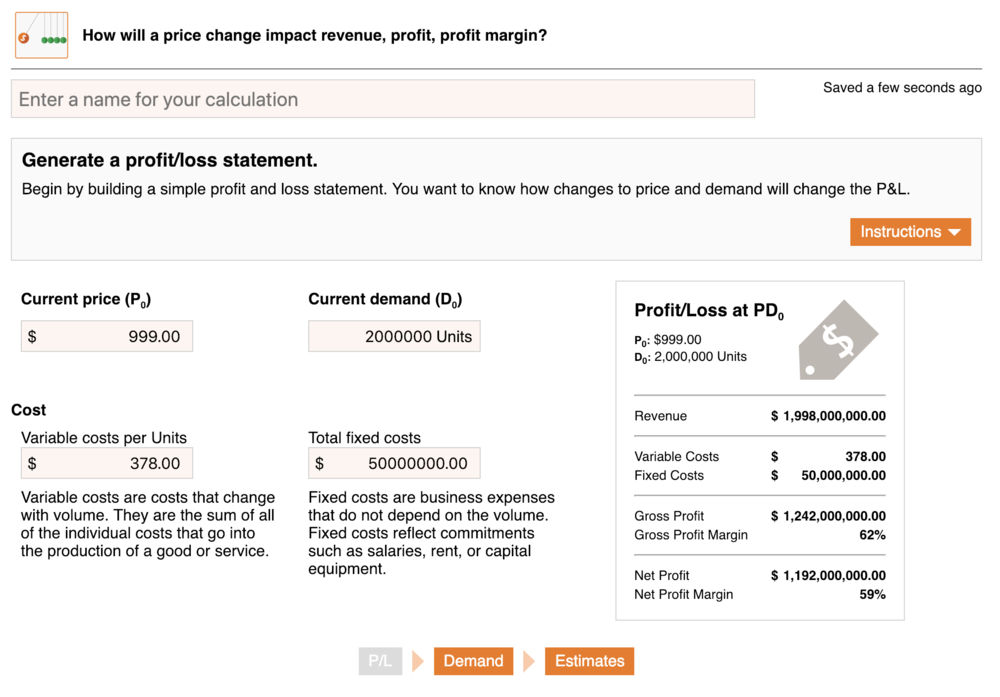 Ibbaka Pricing Calculator