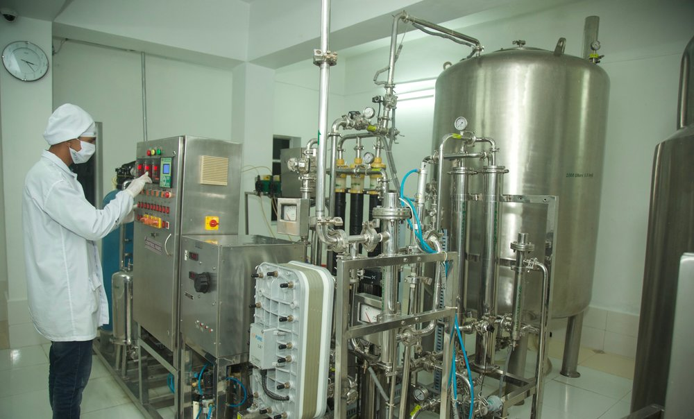 Manufacturing Facility - The factory premises consist of 250411.5 sq ft in area (2.3264 Hectare), which are comprised of the Pharma Manufacturing plant, constructed in 16230.85 sq ft, Cephalosporin in 5996.25 sq.ft, all within a self contained facility.Veterinary is housed in 2557.75 sq.ft with a separate air handling facility. Raw materials are stored in 2600 sq ft. and a scrap yard in 1500 sq ft. AHU, chilling units, and the whole maintenance area occupy 9194.74 sq.ft of the total circumference. Quality Control, Microbiology, R&D, and Quality Assurance, are located within the second floor area of 11663.04 sq.ft.