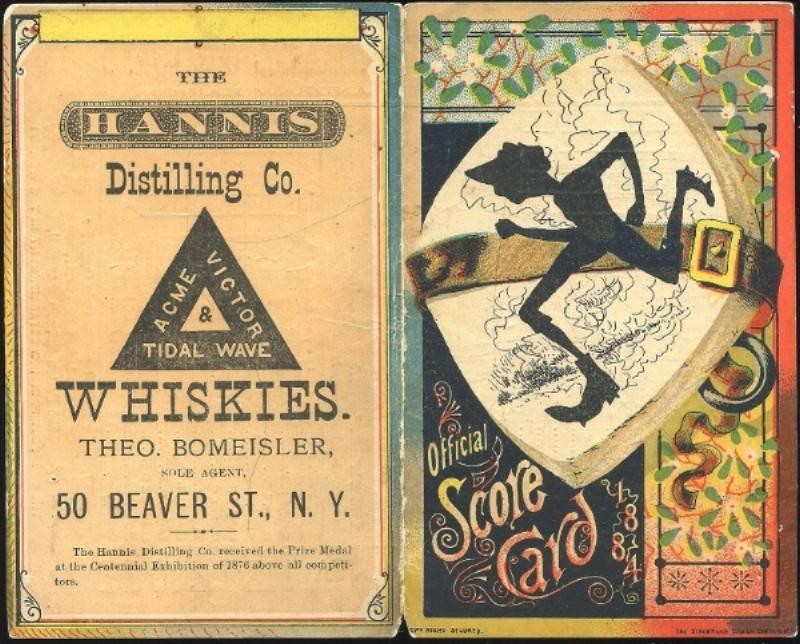 1884 American Association Brooklyn Atlantics Philadelphia Athletics Score Card Via  BST Auctions