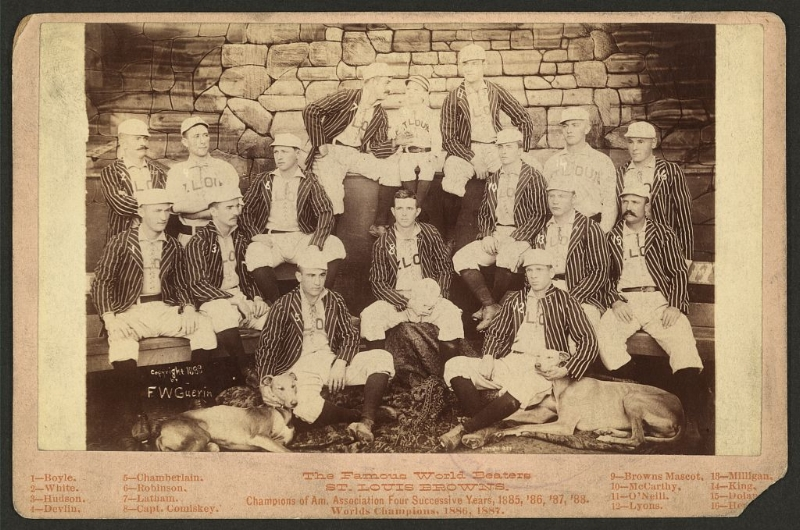 The St. Louis Browns of The American Association in 1888 via The Library of Congress