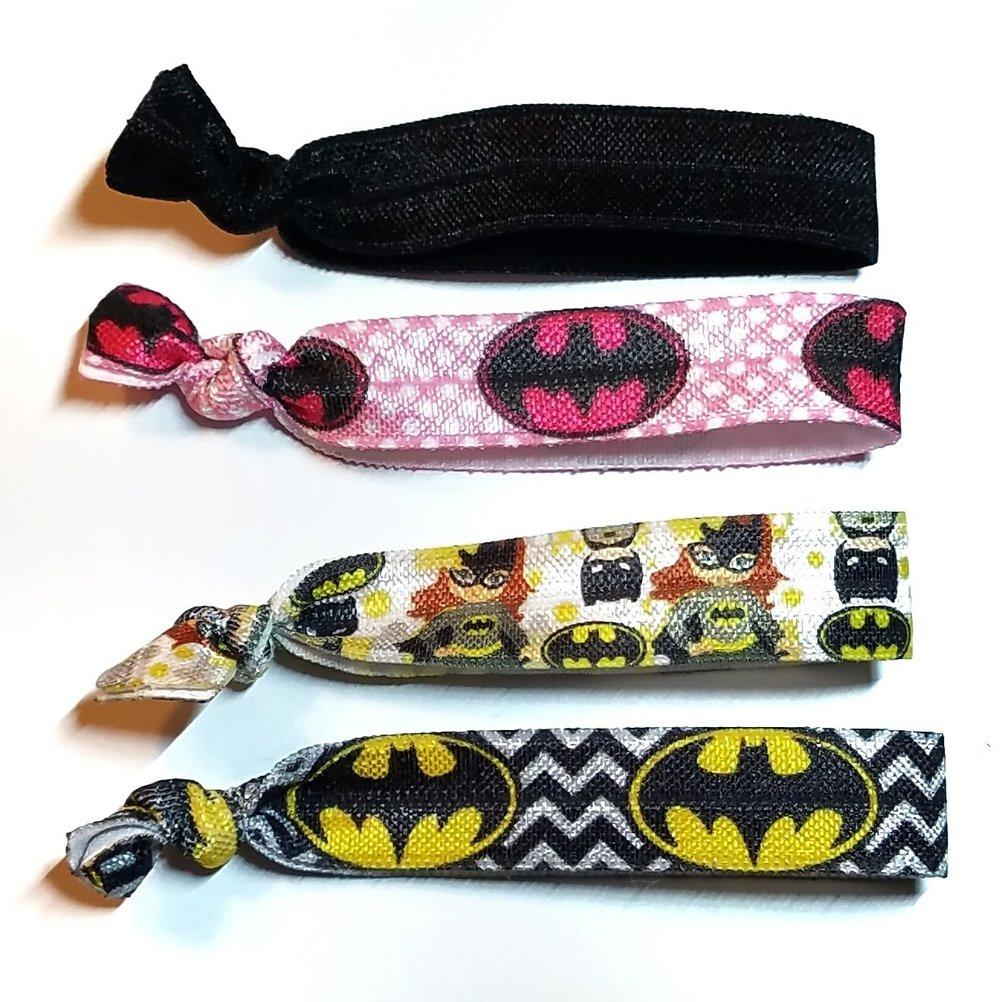 Batman Batgirl Set of 4 Hair Ties — Viktorija s Adorable Adornments 91326a3684d