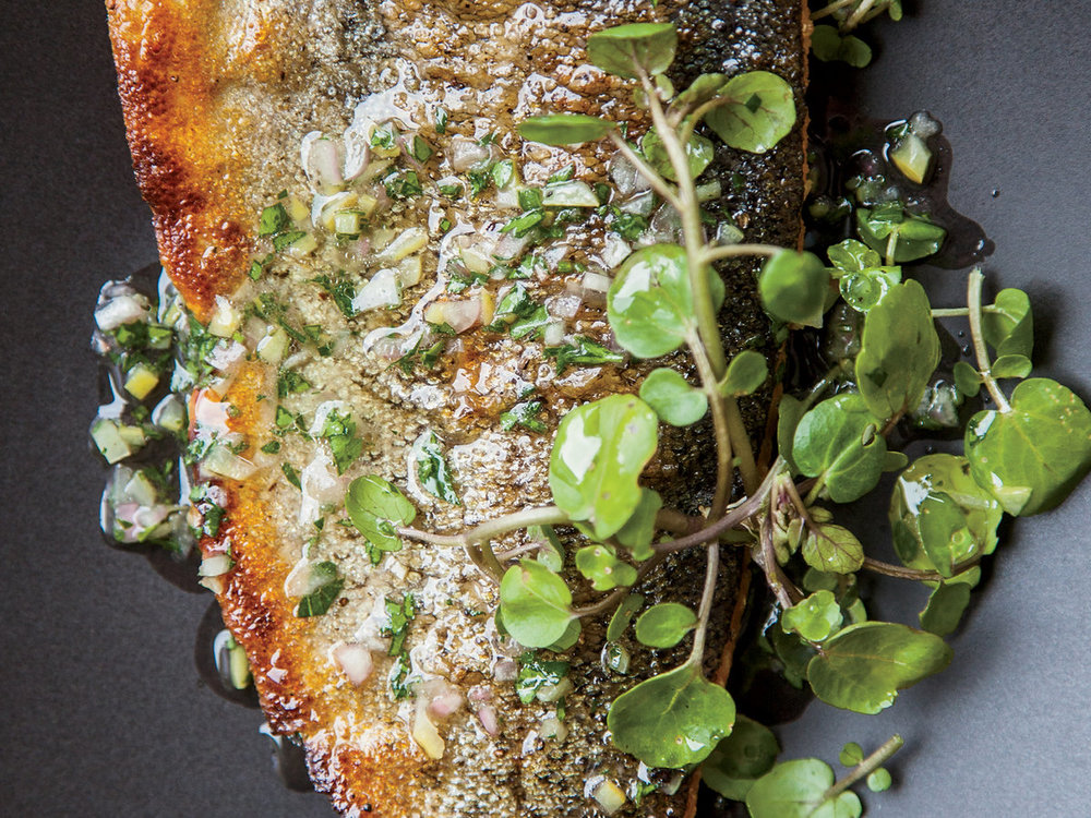 Trout with Preserved Lemon Vinaigrette