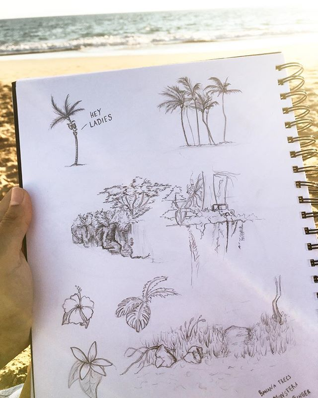 Been sketching some of the green I find around me. Trying to find inspiration in this paradise..think I have an idea🤔— stay tuned . . . . . #sketching #illustration #storyboarding #inspiration #drawing #cartooning