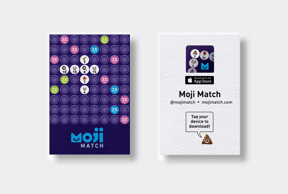 NFC Moji Match Business Cards