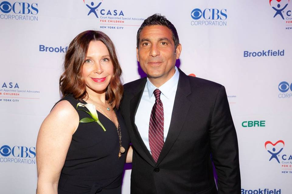 CASA-NYC's 2018 Spring Gala Honorees: long-term volunteer Advocate, Karen Azoulay and former foster youth, CBS Executive Vice President Scott Koondel.