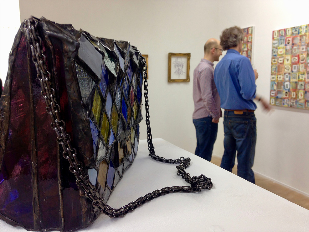 Laura Keeble's reclaimed stained glass sculpture
