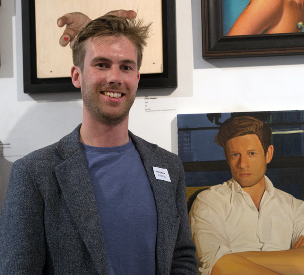 1.Henry Bryne at Royal Soc Portrait Painters Annual Exhibtion. Photo-Hannah Burton 1.jpg