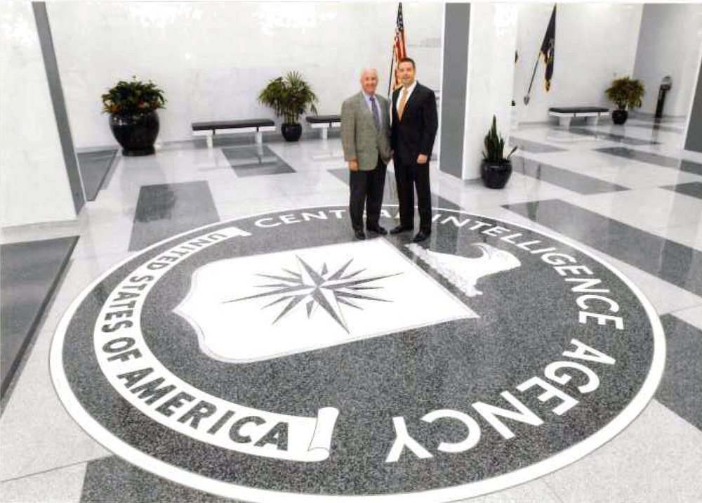 My dad and I at CIA headquarters