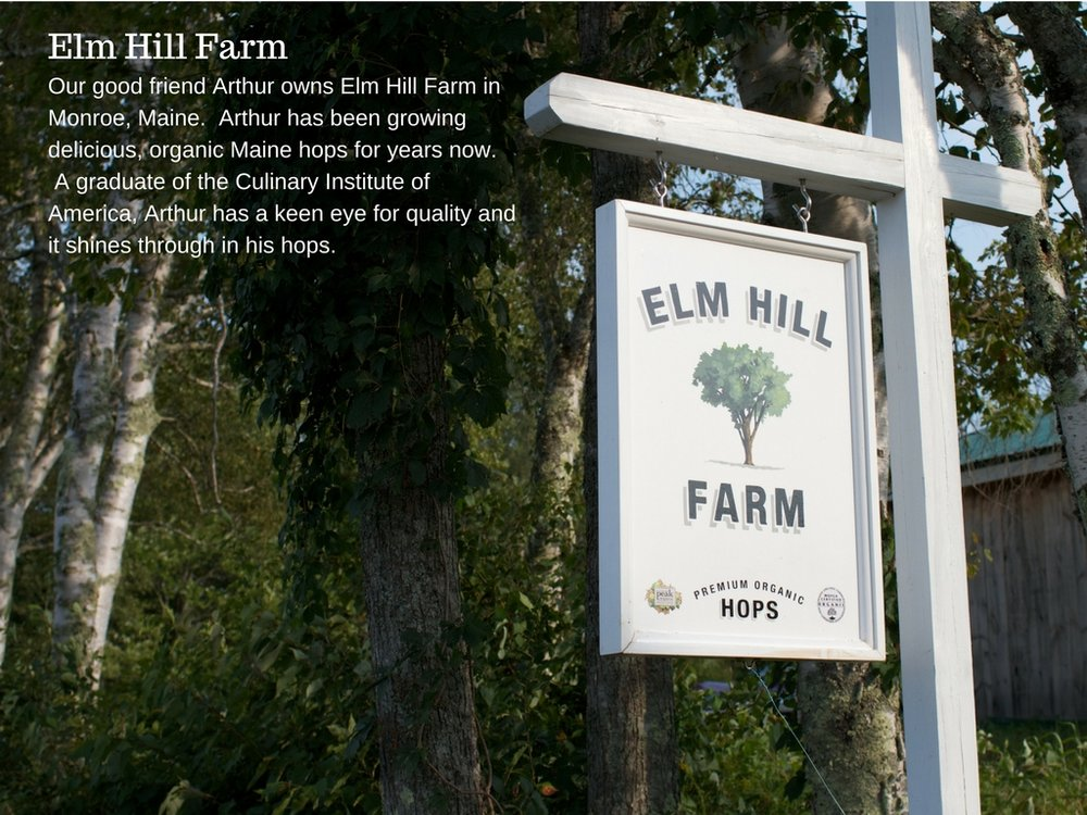 Copy of Elm Hill FarmOur good friend Arthur owns Elm Hill Farm in Monroe, Maine. Arthur has been growing delicious, organic Maine hops for years now. A graduate of the Culinary Institute of America, Arthur has a k (1).jpg